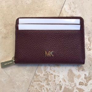 Michael Kors Money pieces leather coin card case